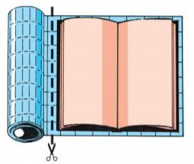 Boekfolie op maat knippen